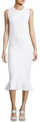 Opening Ceremony Wavy Lotus Striped Dress, White