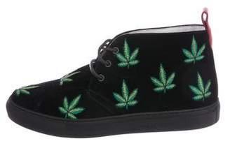 Del Toro Botanical Velvet Sneakers