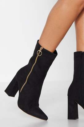 Nasty Gal What O-Rings You Here Faux Suede Boot