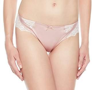 XoDo Intimates Women's Lace Back Cotton Inner Crotch Satin Panty (