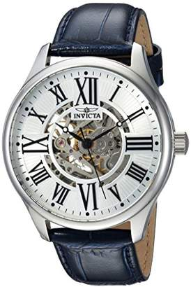 Invicta Men's 'Vintage' Automatic Stainless Steel and Leather Casual Watch