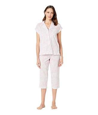 Lauren Ralph Lauren Short Dolman Sleeve Notch Collar Capri Pajama Set
