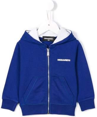 DSQUARED2 logo zip hoodie