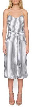 Women's Willow & Clay Stripe Midi Dress $99 thestylecure.com