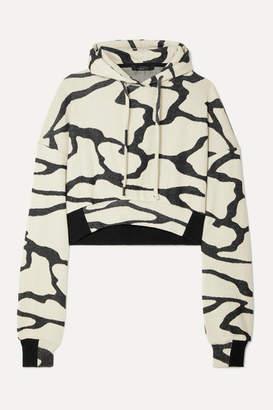 TWENTY Montréal - Hyper Reality Cropped Cotton-blend Jacquard-knit Hoodie - Gray