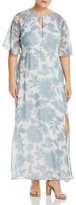 Junarose Plus Floral-Print Maxi Dress