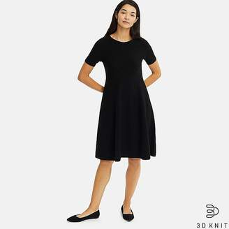 Uniqlo Women's 3d Cotton Flare Short-sleeve Dress