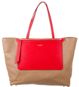Lanvin Horizontal Leather Tote $445 thestylecure.com