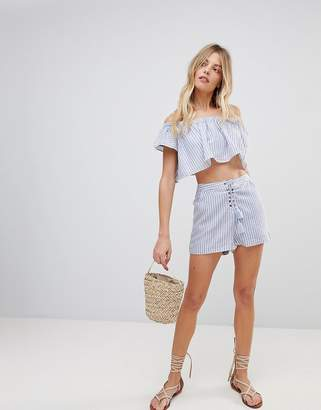 The Jetset Diaries Haven Striped Tassel Shorts