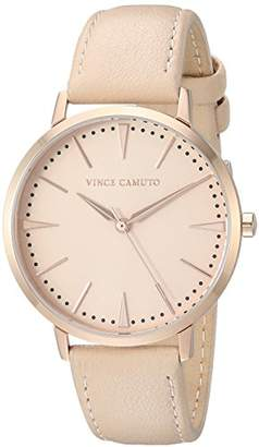 Vince Camuto Women's VC/5348RGLP Rose Gold-Tone and Light Pink Leather Strap Watch