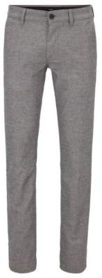 BOSS Slim-fit trousers in stretch fabric with houndstooth pattern