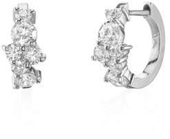 Sydney Evan 14k White Gold Diamond Huggie Hoop Earrings