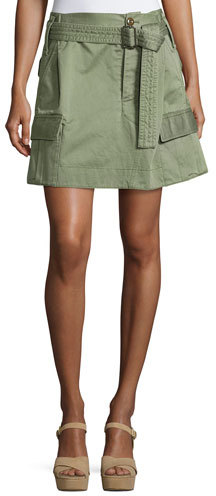 Marc JacobsMarc Jacobs Belted Cargo-Pocket Mini Skirt, Camouflage