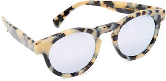 Illesteva Leonard Mirrored Sunglasses $177 thestylecure.com
