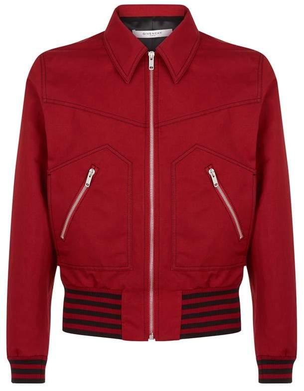 Stripe Trim Bomber Jacket