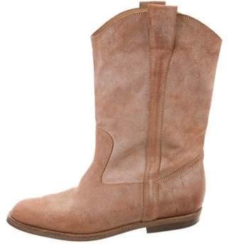 Maison Margiela Suede Cowboy Boots