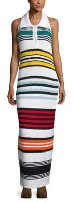 Michael Kors Spread Collar Cotton Sweater Dress