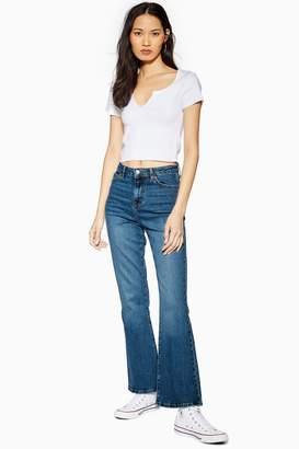 Topshop TALL Dark Mid Blue Dree Jeans