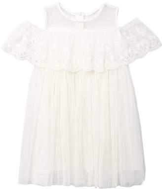 Popatu Lace Flounce Tulle Dress (Toddler & Little Girls)