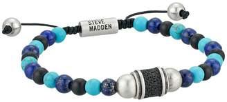 Steve Madden Stainless Steel Onyx Beaded Bracelet Bracelet