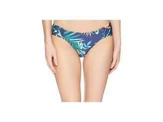 Lucky Brand Lush Leaf Reversible Side Sash Hipster Women's Swimwear
