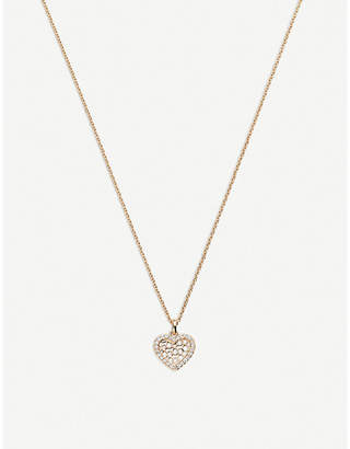 Rosegold BUCHERER JEWELLERY Infinite Love 18ct rose-gold diamond pendant necklace