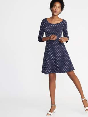 Old Navy Fit & Flare 3/4-Sleeve Jersey Dress for Women
