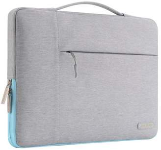 Mosiso Polyester Fabric Multifunctional Sleeve Briefcase Handbag Case Cover for 13-13.3 Inch Laptop, Notebook, MacBook Air/Pro, Gray & Hot Blue