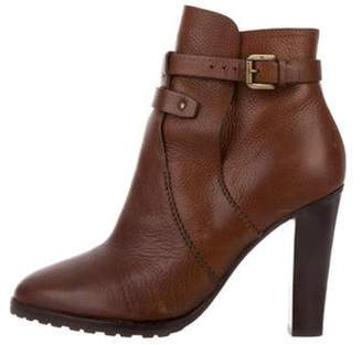 Ralph Lauren Leather Ankle Boots Brown Leather Ankle Boots