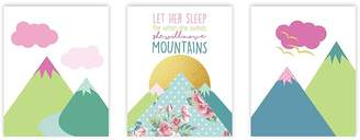 Möve Children Inspire Design Let Her Sleep For When She Wakes She Will Mountains Inch Print, Nursery Décor Let Her Sleep For When She Wakes She Will Mountains Quote