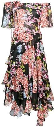 Josie Natori Hokkaido Blossom corsage dress