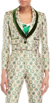 Dolce & Gabbana Velvet Trim Brocade Jacket