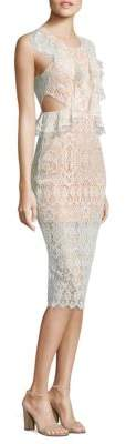 Alexis Pepa Cutout Ruffled Lace Dress