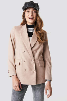 MANGO Paper Blazer Light Beige