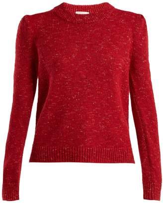 Isa Arfen Speckled-knit crew-neck sweater