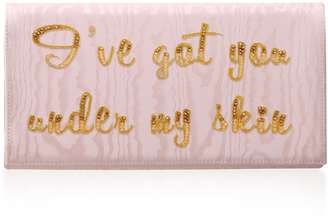 Preciously Paris I've Got You Under My Skin Moire Clutch