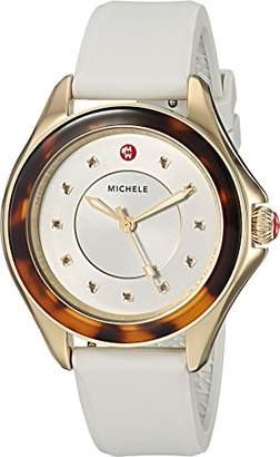 Michele Women's 'Cape' Quartz Stainless Steel and Silicone Casual Watch