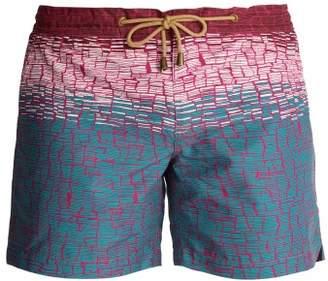 Thorsun - Titan Fit Clay Print Swim Shorts - Mens - Red