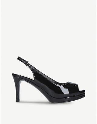 Nine West Patent-leather peep-toe heels