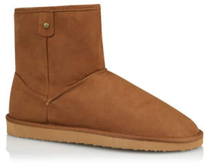 George Tan Fleece Lined Snug Outdoor Boots