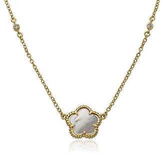 """Mother of Pearl LMTS""""Little Miss Flower Girl"""" 14k Gold-Plated Mother-Of-Pearl Necklace"""