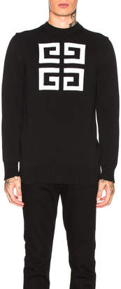 Givenchy 4G Logo Sweater in Black & White | FWRD