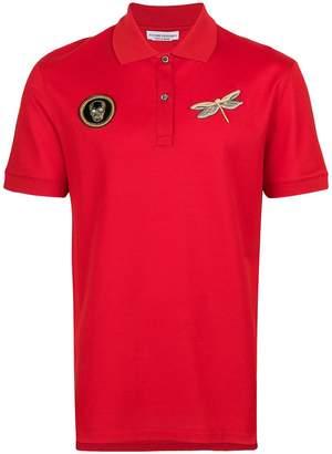 Alexander McQueen applique polo shirt