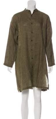 eskandar Linen Long Sleeve Dress