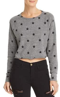 LnA Brushed Cropped Star Print Sweatshirt