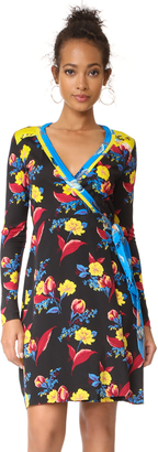 Diane von Furstenberg Long Sleeve Wrap Dress $468 thestylecure.com