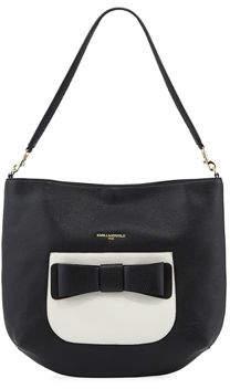 Karl Lagerfeld Paris Bobbi Pebbled Hobo Bag