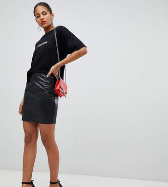 Missguided Tall Leather Look Mini Skirt