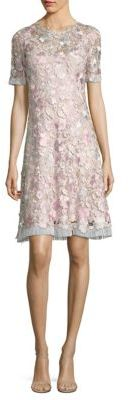 Elie Tahari Laura Floral Lace A-Line Dress $598 thestylecure.com