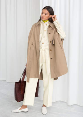 And other stories Belted Trench Cape